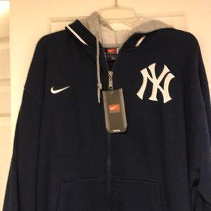 Nike Shirts - New York Yankees Nike zip-up hoodie large nwt